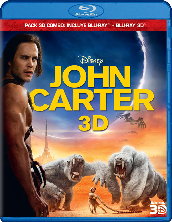 John Carter Blu-ray 3D Blu-Ray